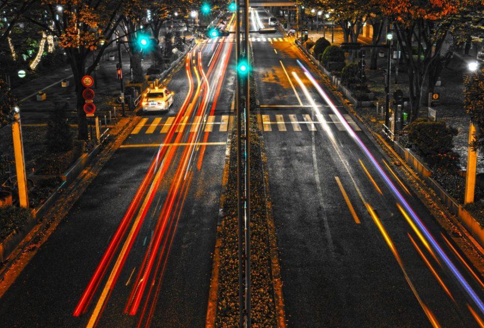 ライトの軌跡