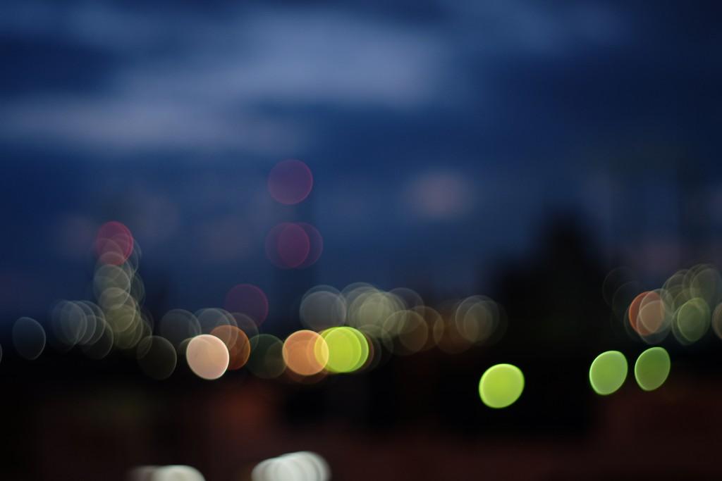 宇部の工場夜景をバブルボケで撮ってみた